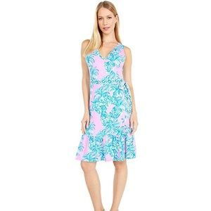 NWT new Lilly Pulitzer misha wrap dress xs ruffle